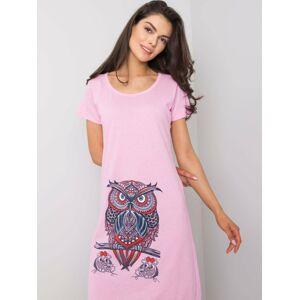 Růžová bavlněná košile S