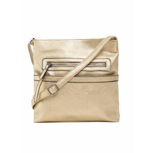 Zlatá taška na zip jedna velikost
