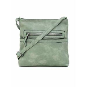 Světle zelená taška na zip jedna velikost