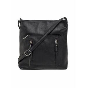 Černá kabelka z ekokože jedna velikost