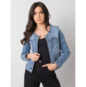 Modrá krátká džínová bunda