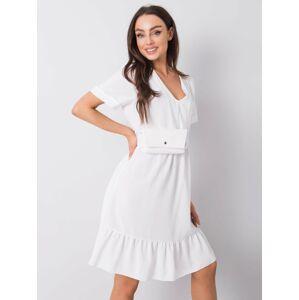 Dámské šaty Ecru s volánkem jedna velikost