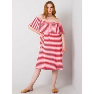 Korálově růžové šaty Plus size 2XL