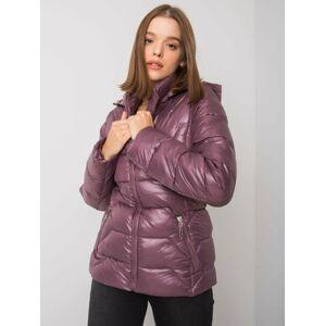 Fialová bunda s kapucí XL