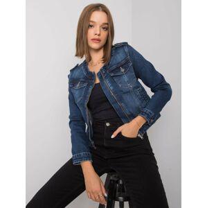 Dámská modrá džínová krátká bunda XS