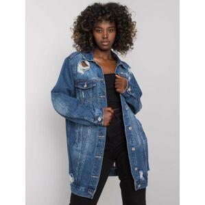 Modrá dámská džínová bunda se záplatami S / M
