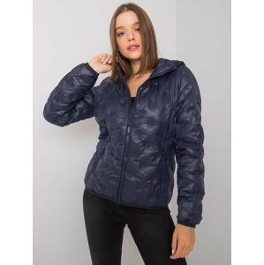 Dámská přechodná bunda v tmavě modré barvě S