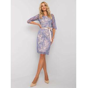 Modré elegantní šaty 36