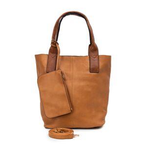 Hnědá městská taška s odnímatelným pouzdrem
