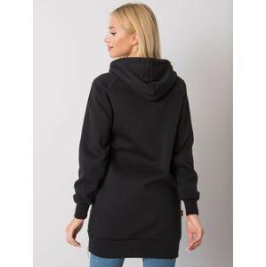 Černá zateplená mikina s kapucí M
