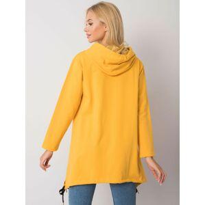 Žlutá mikina na zip s kapsami S/M