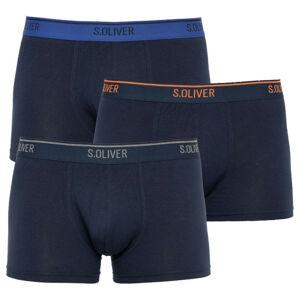 3PACK pánské boxerky S.Oliver modré (26.899.97.5623.12L3) L