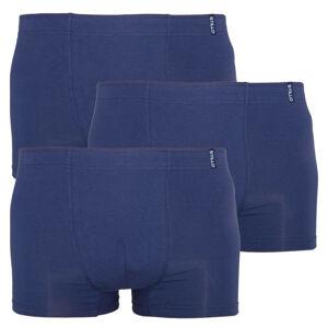 3PACK pánské boxerky Stillo tmavě modré (STP-0090909) XL