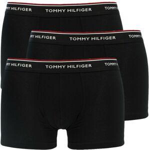 3PACK pánské boxerky Tommy Hilfiger černé nadrozměr (1U87905252 990) 3XL