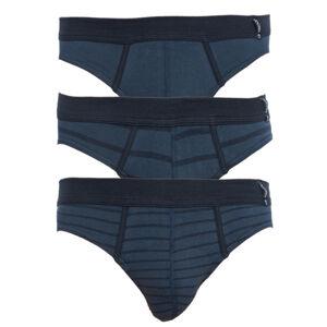 3PACK pánské slipy Jockey modré (17502483 499) L