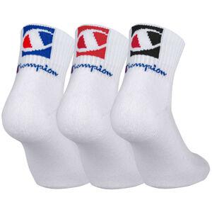 3PACK ponožky Champion bílé (Y0B0B) 43-46