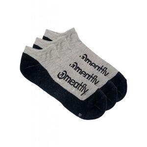 3PACK ponožky Meatfly vícebarevné (Boot Grey) M