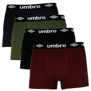 4PACK pánské boxerky Umbro vícebarevné (UMUM0316) L