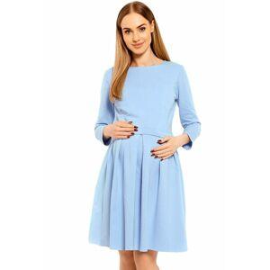 Těhotenské a kojicí šaty Celeste modré  XXL