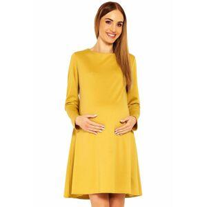 Těhotenské šaty Nathy okrové  XXL