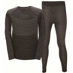 FALEBO - pánské bezešvé spodní prádlo - dk grey - 2117 S/M