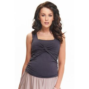 Těhotenský a kojicí top Zoja tmavě šedý  XL