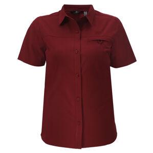 IGELFORS - Dámská outdoorová košile s krátkým rukávem - Wine - 2117 XL