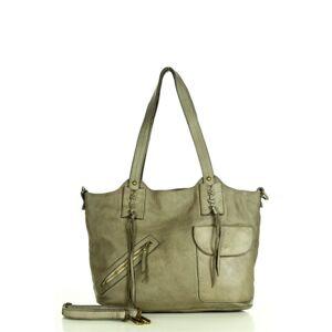 Přírodní kožená taška model 158584 Mazzini  univerzální
