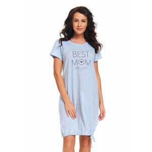 Mateřská noční košile Best mom světle modrá  XL