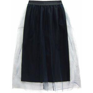 Tmavě modrá tylová sukně s délkou midi (104ART) námořnická modrá ONE SIZE