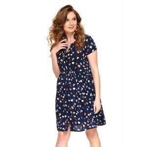 Letní mateřské šaty Ivona tmavě modré  S