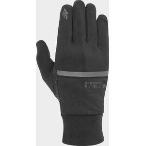 Běžecké rukavice 4F REU101 Černé Černá M