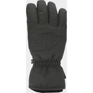 Dámské lyžařské rukavice 4F RED350 Černé Černá 8,5-9(XL)
