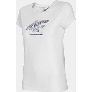 Dámské tričko 4F TSD011 bílé XXL