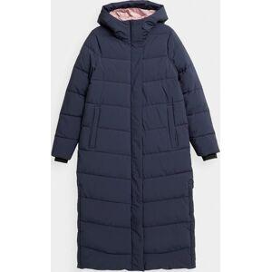 Dámský péřový kabát 4F H4Z21-KUDP012 tmavě modrý Modrá XS