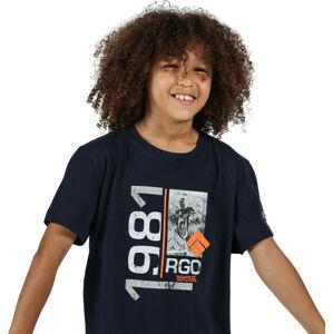 Dětské tričko Regatta RKT106 Bosley III Tmavě modré 11-12 let