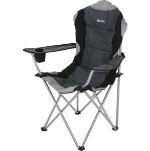 Kempinové křeslo Regatta RCE036 Kruza Chair Black/Sealgr UNI