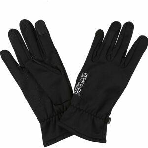 Pánské  softshellové rukavice  Regatta RMG026 Touchtip 800 Černé Černá M