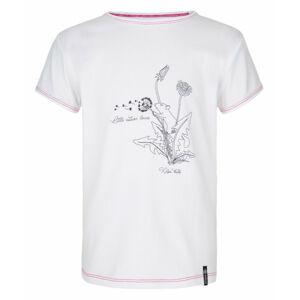 Dívčí bavlněné tričko Avio-jg bílá - Kilpi 122