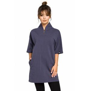 B043 Kimonová tunika - červená EU L modrý
