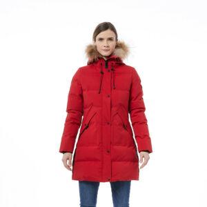 BU-4703SNW dámská bunda streetová dlouhý styl DEQIA red XL