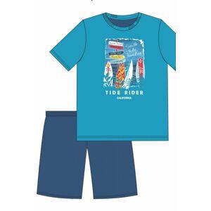 Chlapecké pyžamo 519/37 - CORNETTE tyrkysová 176/M