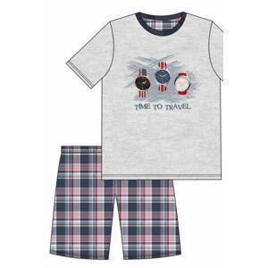 Chlapecké pyžamo 551/34 - CORNETTE melanž 176/M