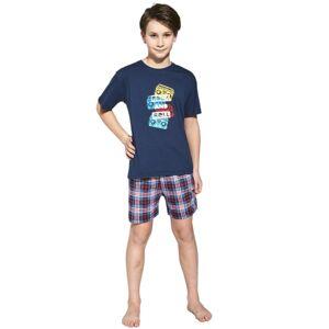 Chlapecké pyžamo Cornette 790/91 134/140 Tm. modrá