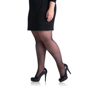 Punčochové kalhoty pro nadměrné velikosti PLUS SIZE 20 DEN - BELLINDA - černá XL