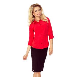 Dámská košile 017-1 - MORIMIA červená XS