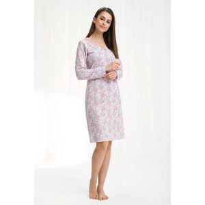 Dámská noční košile 258 - Luna růžovo-bílá 4XL