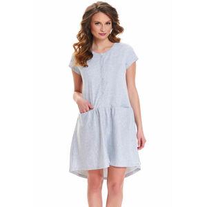 Dámská noční košile TCB.9445 - Dn-nightwear světle šedá M