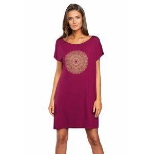 Dámská noční košilka Mandala - Italian Fashion vínová M