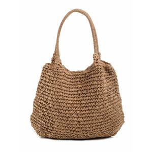 Dámská pletená taška ax4281 - FPrice tmavě béžová one size
